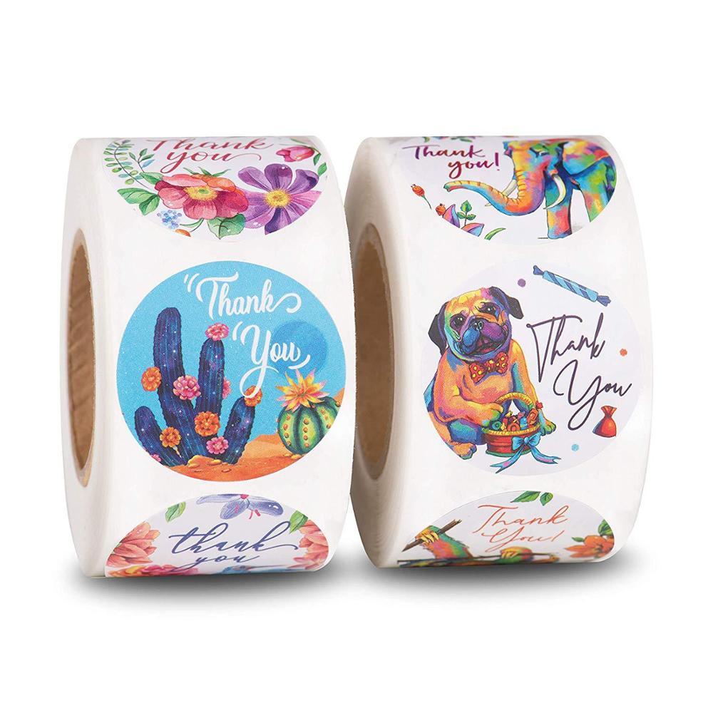 pegatinas-florales-de-agradecimiento-sello-redondo-de-animal-etiqueta-hecha-a-mano-sobre-de-scrapbooking-adhesivo-de-papeleria-de-1-pulgada-50-uds-wad-8-estilo