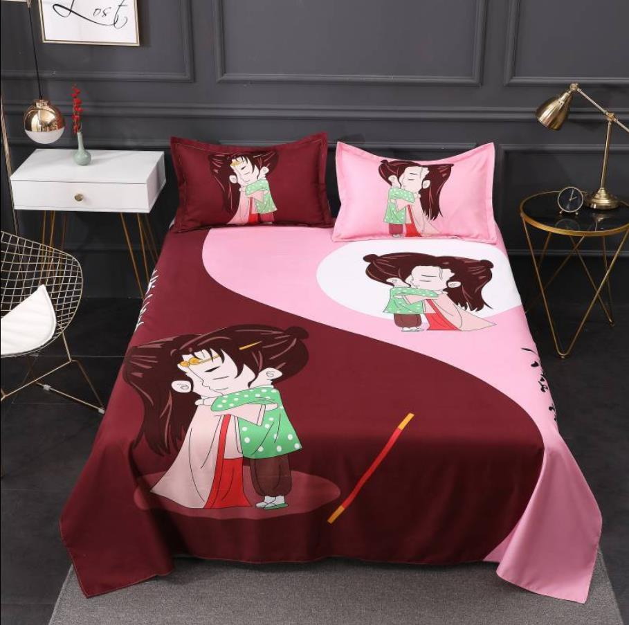 Sábanas textiles para el hogar Love You de un millón de años, ropa de cama, Sábana, colcha, colchón, Sección de polvo con funda de almohada F0221