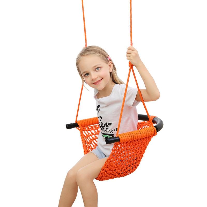 Silla hamaca para niños, hamaca columpio para niños, silla colgante de jardín, hamaca tejida hecha a mano para exteriores en interiores