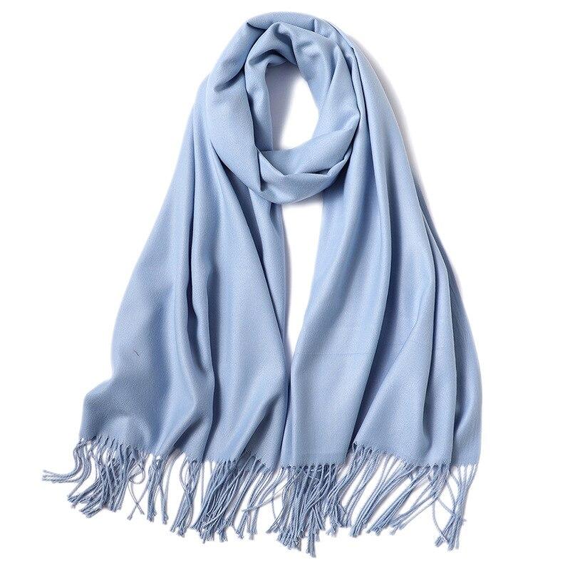 2020 Модный летний женский шарф, тонкие шали и палантины, Женский однотонный хиджаб, длинные кашемировые шарфы из пашмины| |   | АлиЭкспресс