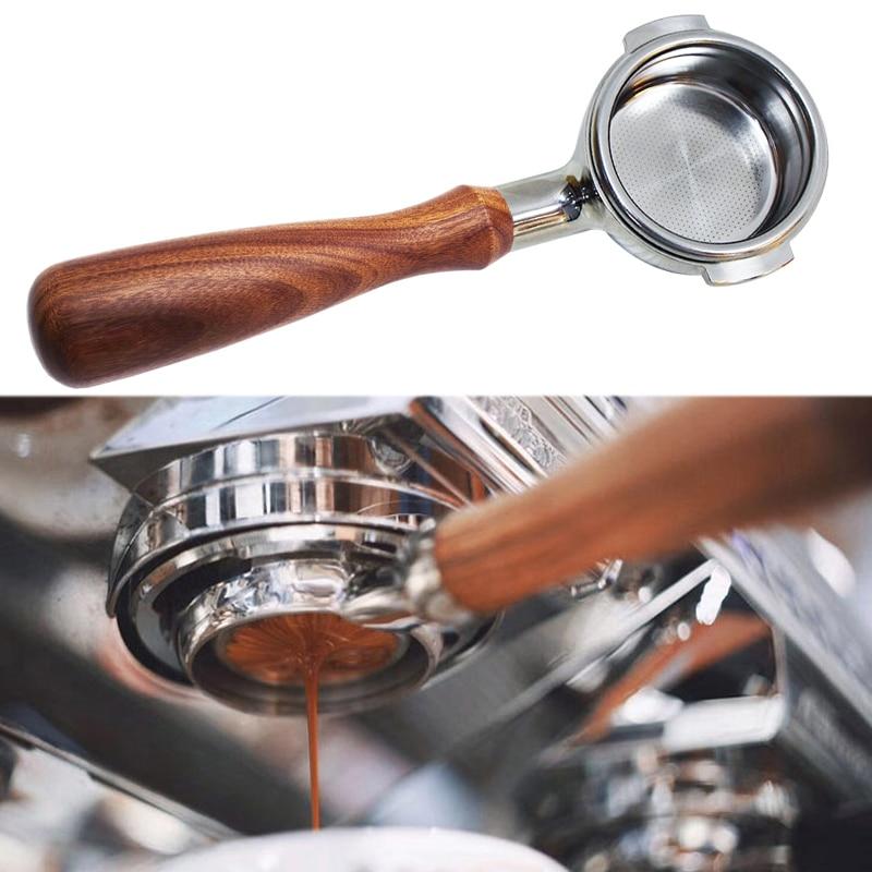 مقبض ماكينة القهوة بدون قاع ، حامل فلتر من الفولاذ المقاوم للصدأ ، ملحقات احترافية ، بيع بالجملة