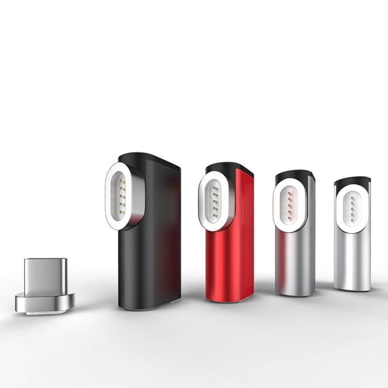 Sindvor, USB tipo C a tipo-c, adaptador magnético para Macbook Samsung s8 s9 LG OnePlus 5 5T 6, Conector de USB-C magnético de carga rápida