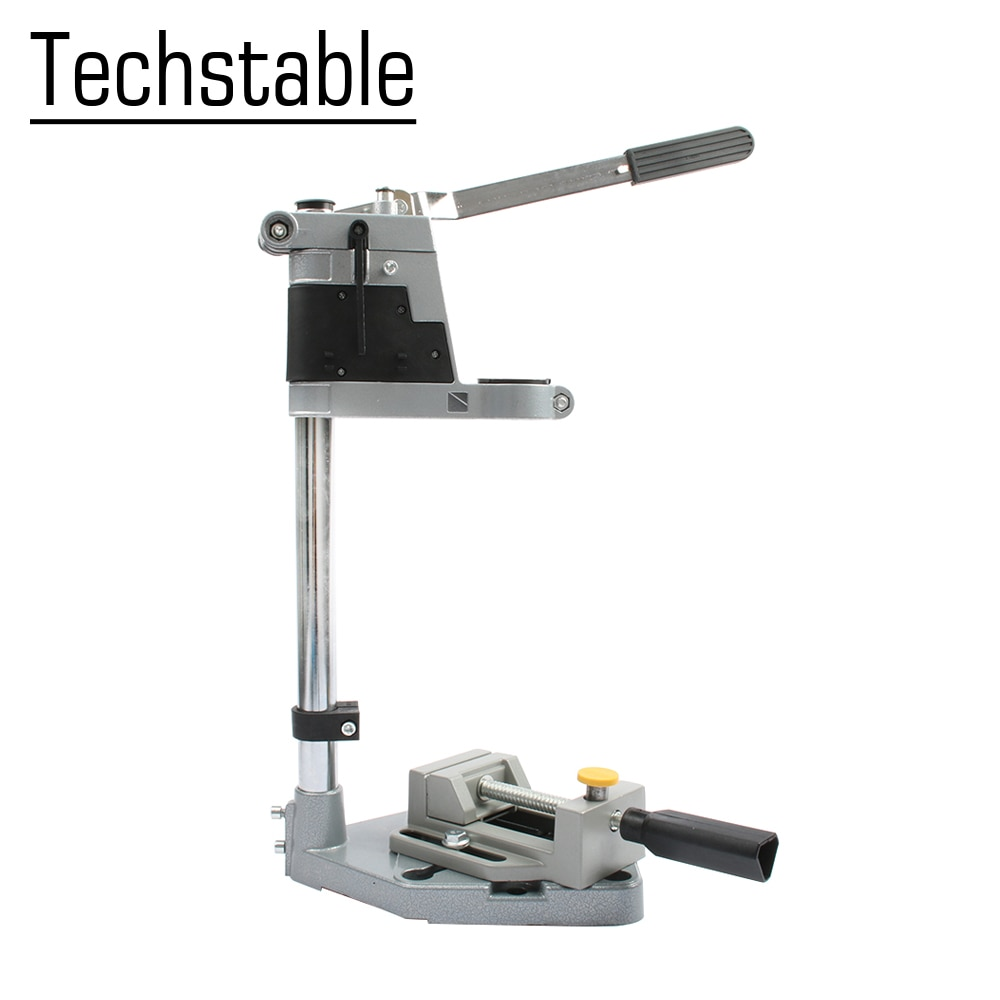 TECHSTABLE Aluminum bench Drill Stand Single-head Electric Drill Base Frame Drill Holder Power Grind