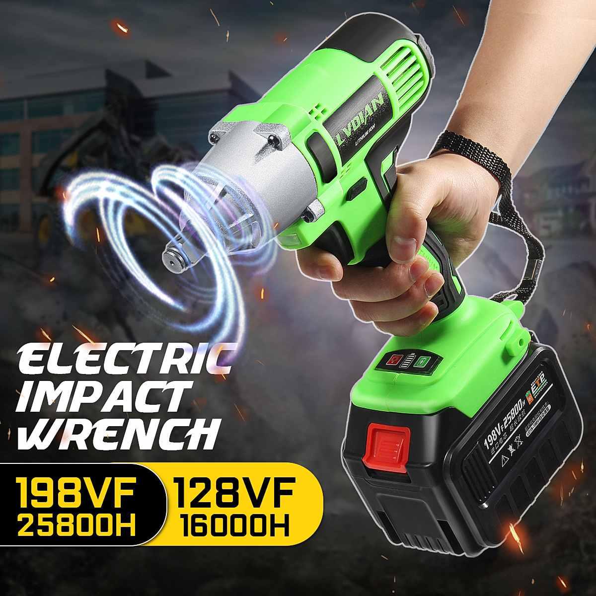 128 v 198 v sem fio de lítio 1 bateria brocas chave chave de fenda ferramenta broca elétrica recarregável para andaime carpinteiro repairm