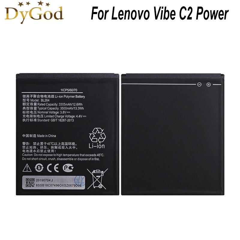 Batería DyGod 3500mAh BL264 para Lenovo Vibe C2 batería de alta calidad para teléfono móvil