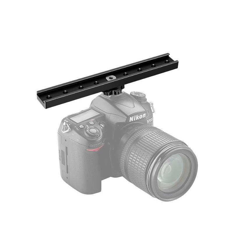 Aluminum Alloy 18cm Long Flash Bracket Hot /Cold Shoe Extension Rail For DSLR Camera for Led Video Light Microphone 180mm