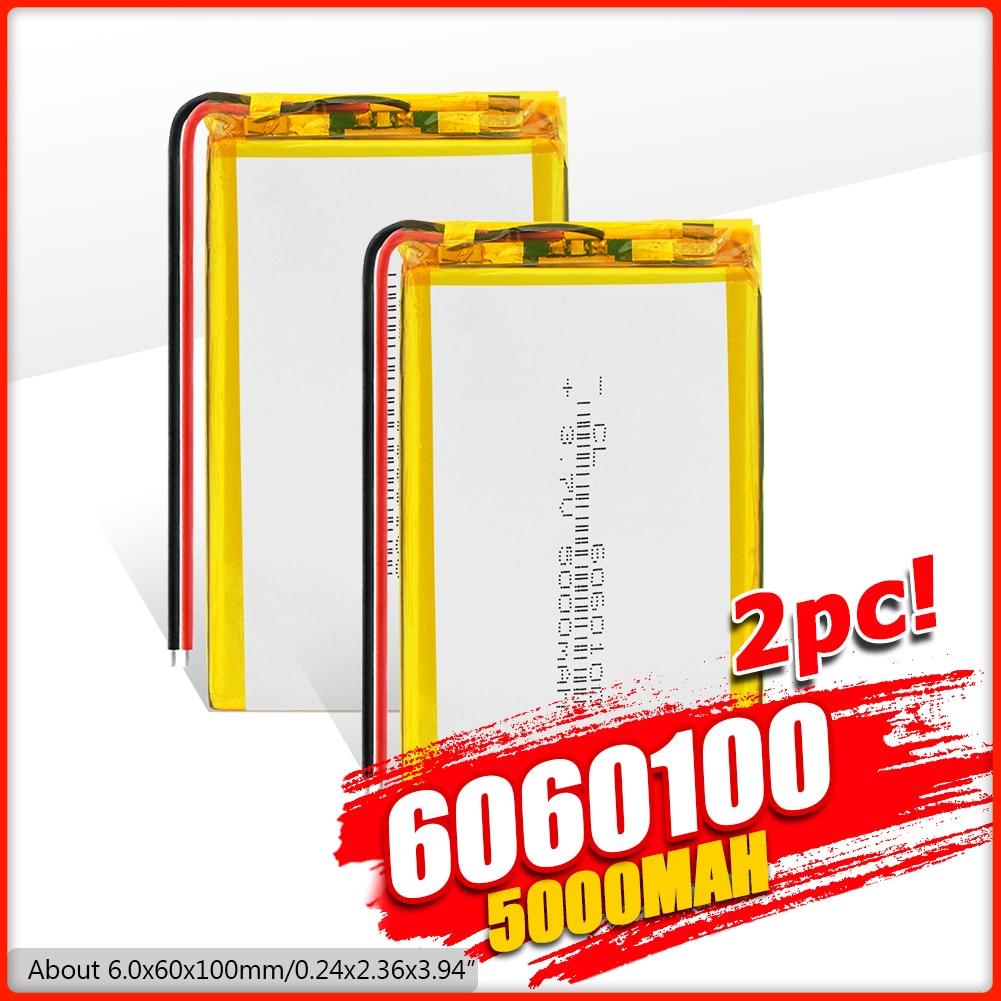 3,7 V 5000mAh 6060100 de polímero de litio LiPo batería recargable para MP4 GPS PSP DVD PAD e-book tablet pc Banco de la energía del ordenador portátil móvil