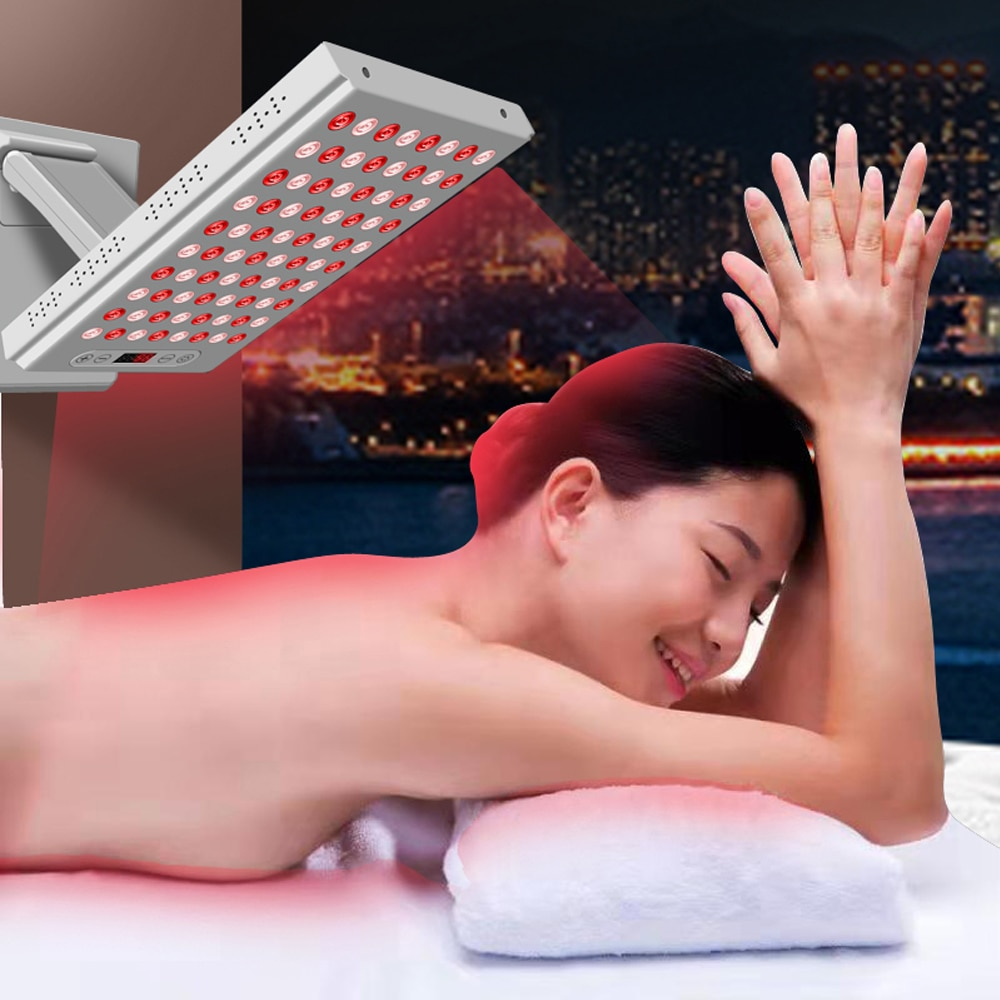 400W 660nm&850nm Near Infrared and Red Light Therapy Panel Home Use Device  LED Light Therapy Lamp for Anti-Aging, Pain Relief