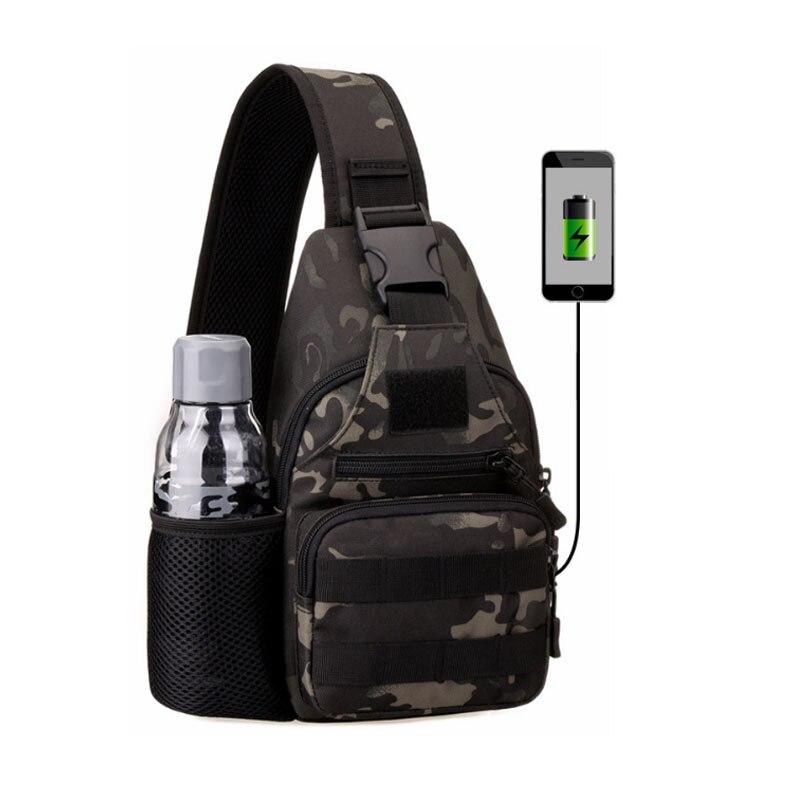 Nova Multifuncional Saco de Isca De Pesca maleta de Ferramentas Da Lona Sacos De Armazenamento Ao Ar Livre Sacos de Ombro Cintura Peito Sling Caso USB ao ar livre Ciclismo