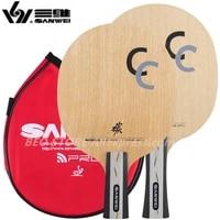 sanwei cc table tennis blade 5 wood2 carbon off training without box ping pong racket bat paddle tenis de mesa