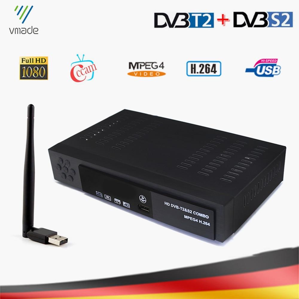 DVB-T2 DVB-S2 Combo TV Tuner With USB WIFI HD Digital Satellite TV Receiver Support IPTV Dolby AC3 Cccam Terrestrial TV Box
