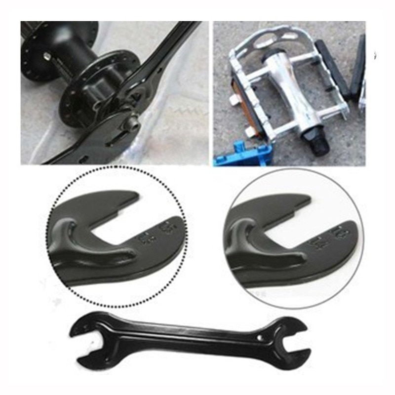 Новая головка для горного велосипеда, открытый торцевой мост, конусный гаечный ключ, инструмент для ремонта велосипеда, задний мост, педаль, гаечные ключи, инструменты, оптовая продажа
