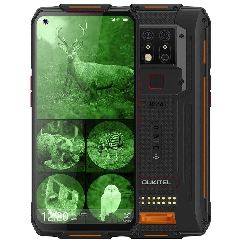 Перейти на Алиэкспресс и купить OUKITEL WP7 8000 мАч NFC 6,53 ''инфракрасный мобильный телефон с ночным видением 8 Гб 128 ГБ Восьмиядерный 48 МП тройные камеры 4G прочный смартфон
