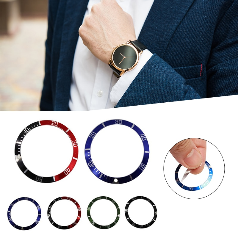 38mm Plastic Watch Bezel Scale Outer Insert Ring Replacement Wristwatch Repair Tools Kit Jewelry Bez