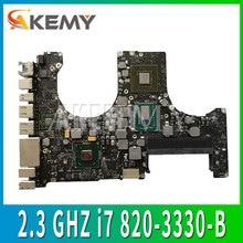 """Carte mère dordinateur portable pour Macbook Pro 15.4 """"A1286 2.3 GHZ i7 carte mère 820-3330-B 2012"""