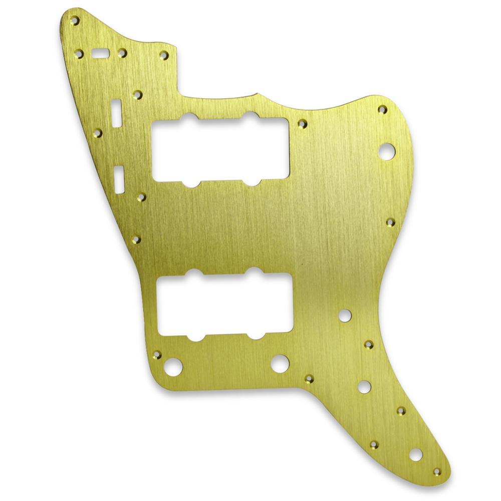 NEW Gold Metal Pickguard Vintage Jazzmaster Style Aluminum Guitar Pickguard Scratch Plate & Screws for Electric Guitar Parts