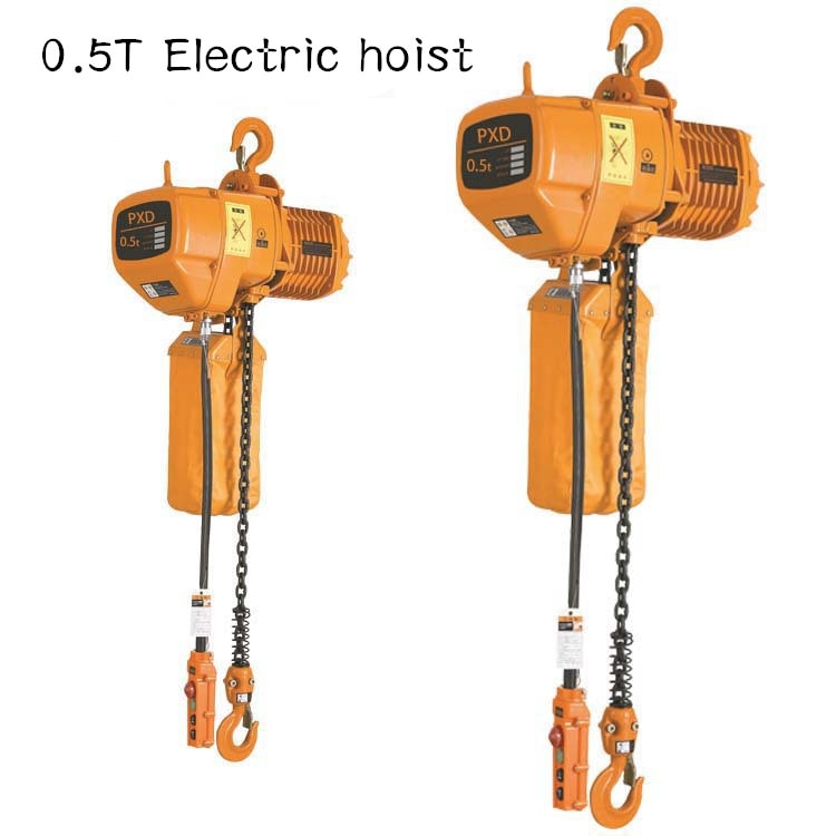 0.5T 380V 3 phase electric hoist  chain hoist single chain electric hoist