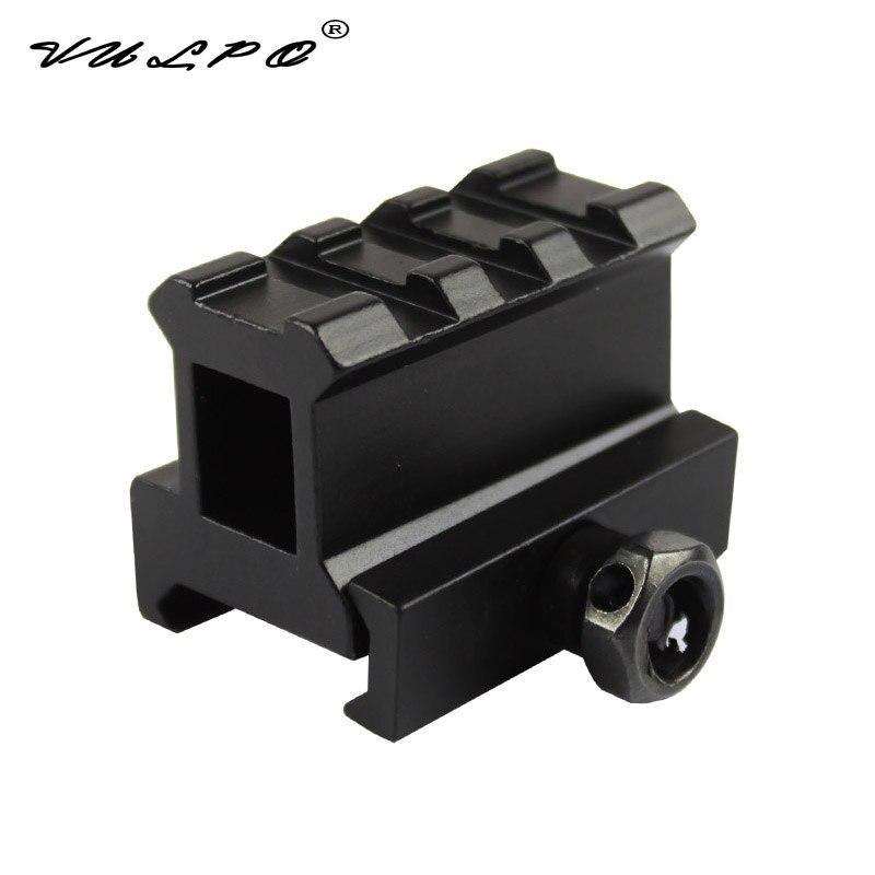 VULPO 20mm montaje riel Picatinny punto rojo Riser versión de montaje Micro con aumento de montaje