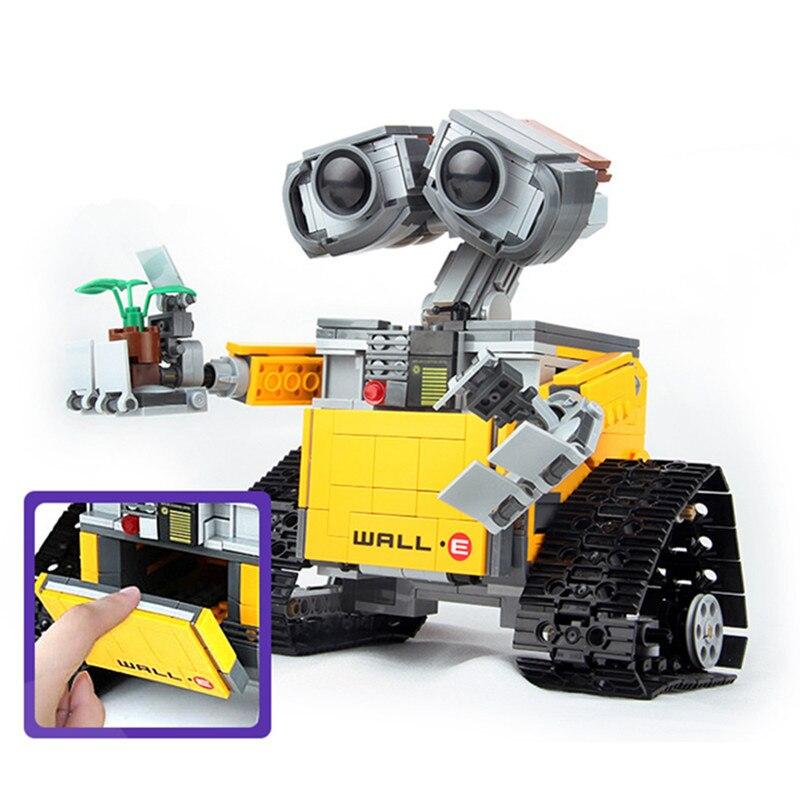 Niños amor 687 piezas Idea Robot pared E 21303 modelo bloques de construcción Kit juguetes para niños educación regalo ladrillos juguete