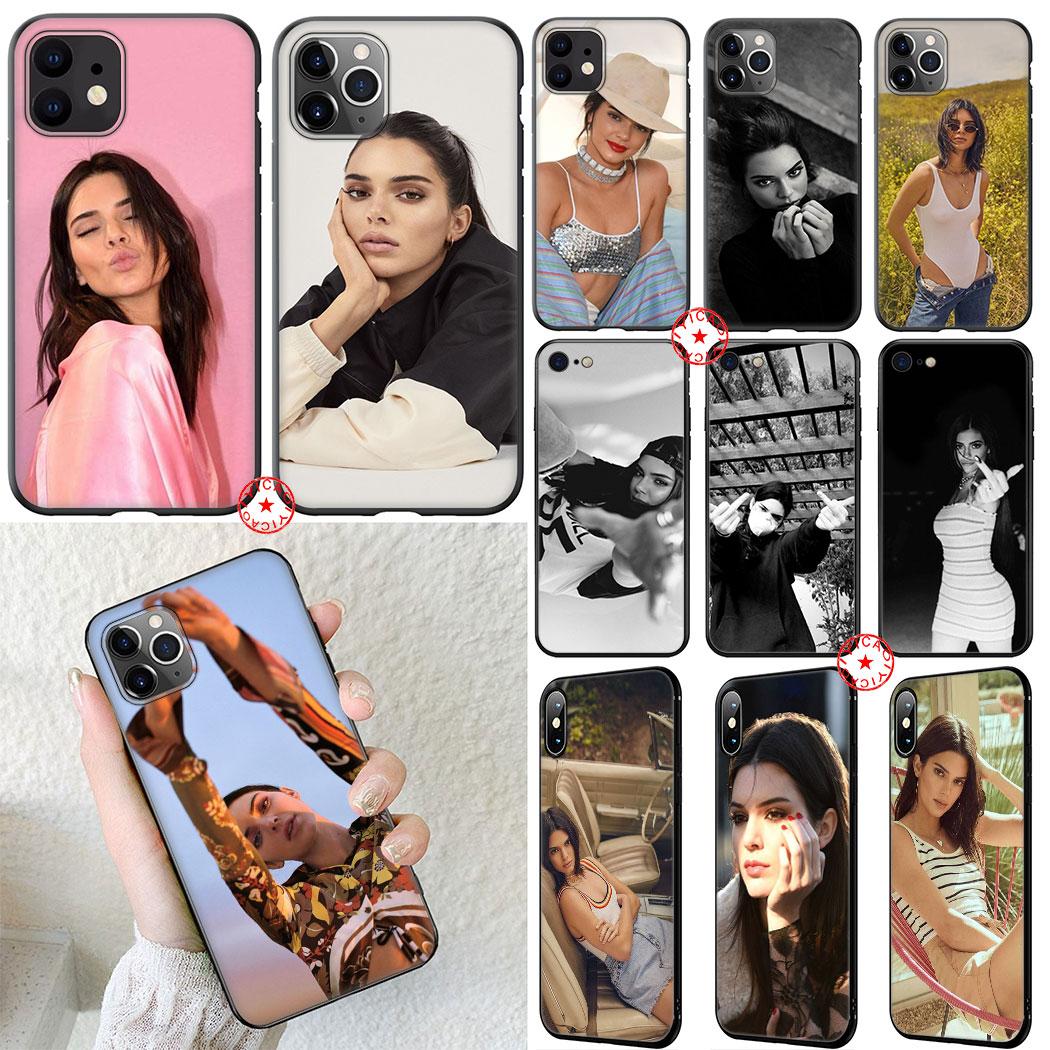 Kendall jenner silicone macio caso para iphone 11 pro xr x xs max 6 s 7 8 plus 5 5S se capa