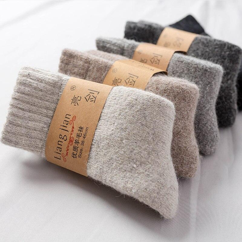2021 зимние супер толстые шерстяные носки мужские и женские теплые шерстяные носки толстые носки с бархатным полотенцем однотонные шерстяны...