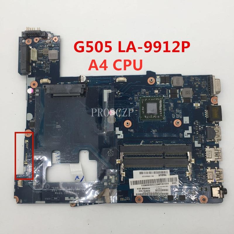 Envío Gratis para G505 placa base de computadora portátil VAWGA/GB LA-9912P W/A4-5000 CPU trabajando bien