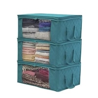 sorbus foldable storage bag organizers large clear window carry handles great for clothes blankets closets bedrooms