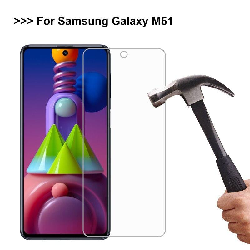Vidrio templado para Samsung Galaxy m51, Protector de pantalla para Galaxy M51,...