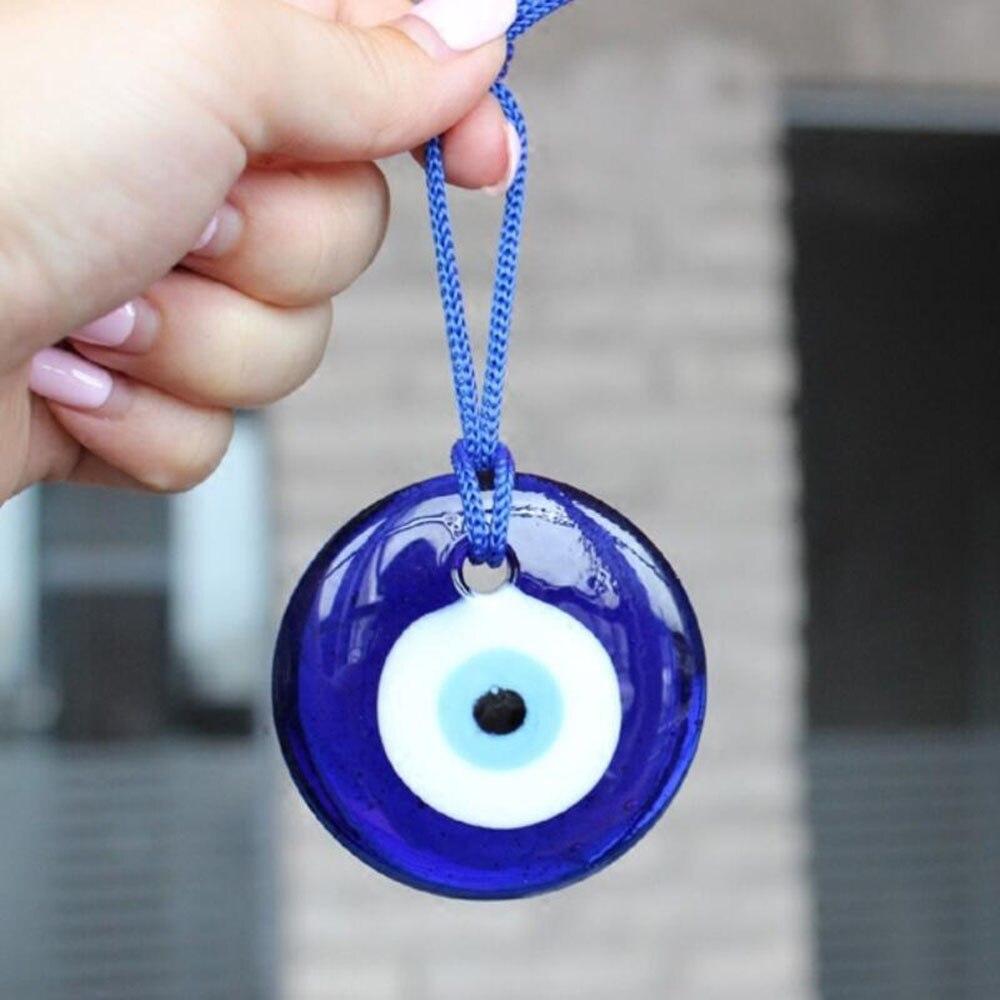 5cm encanto griego azul turco de amuletos contra el mal de ojo colgante suerte pared Coche Oficina Casa amuleto decoración Turquía cábala la religión