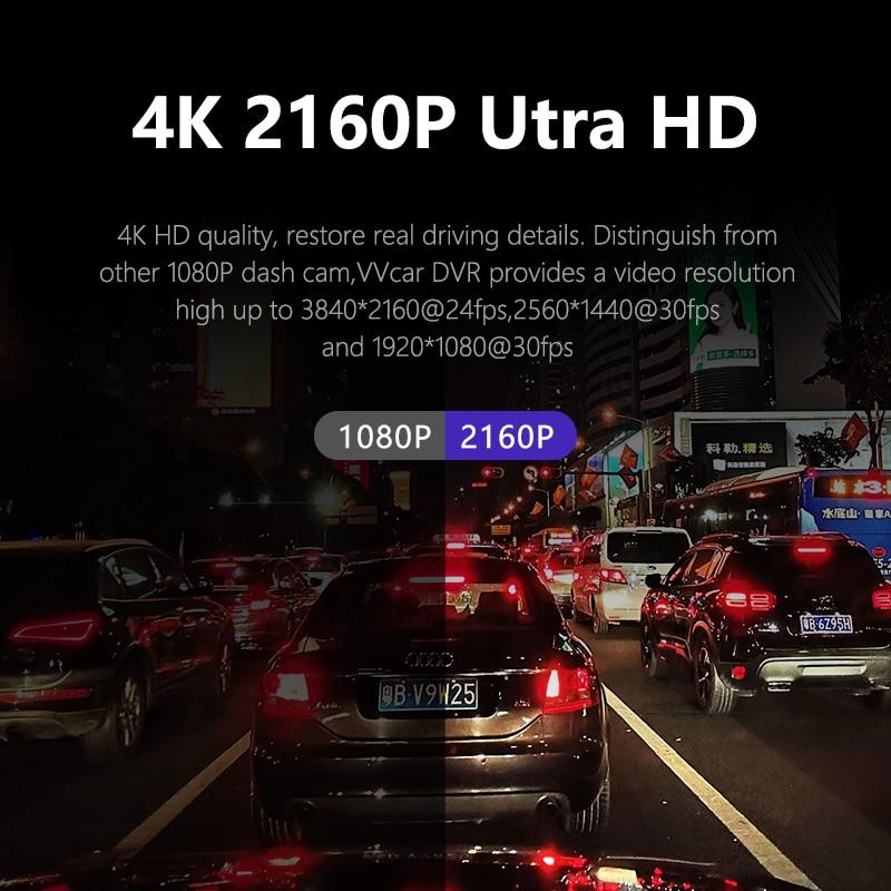 D530 Автомобильный видеорегистратор с камерой 4K и 1080P, видеорегистратор с Wi-Fi и GPS, видеорегистратор с ночным видением