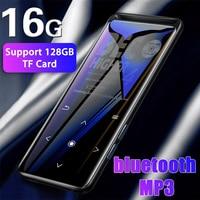16 Гб bluetooth MP3-плеер, Наушники Hi-Fi fm радио мини USB MP3 Спорт MP 4 HiFi портативный музыкальный плеер Диктофон