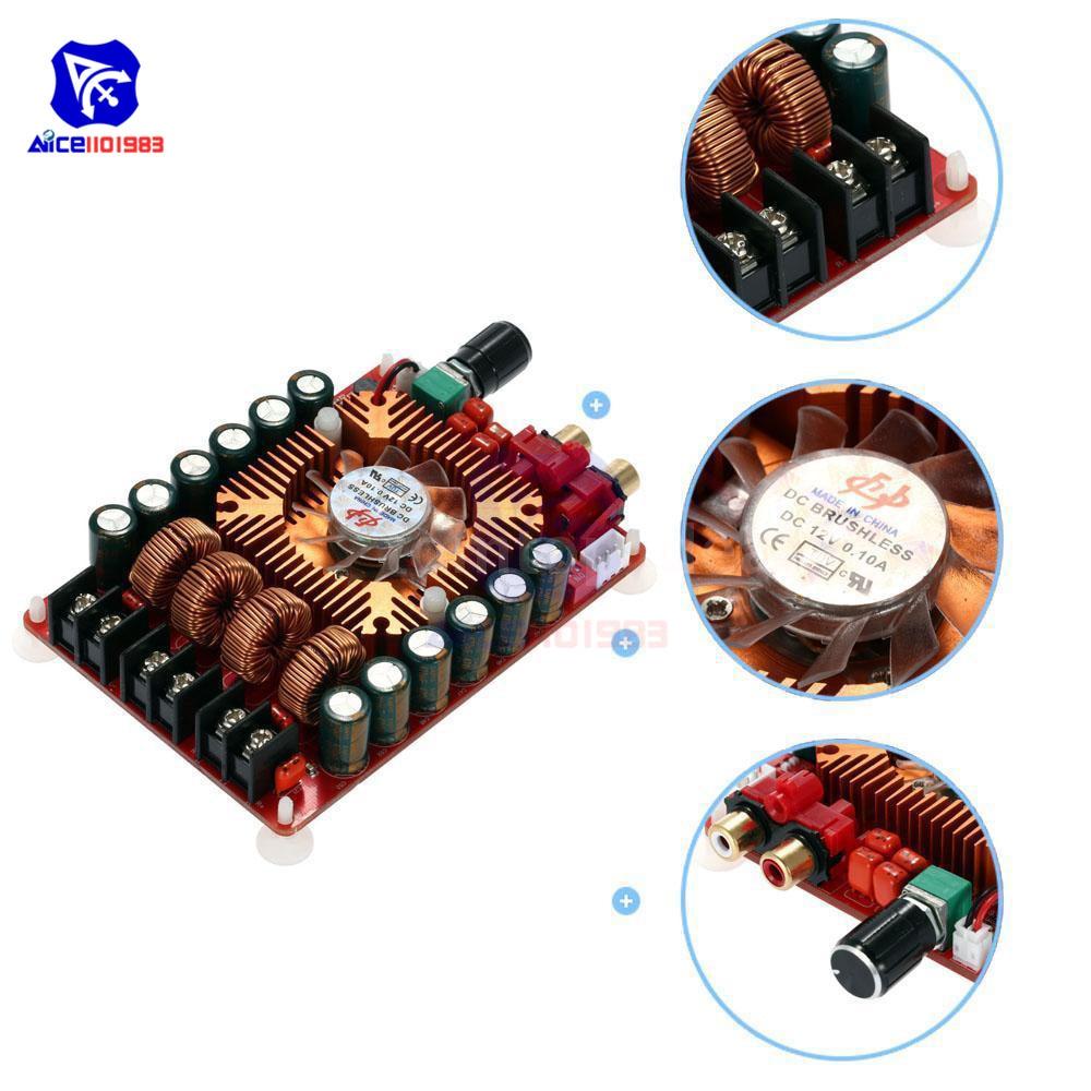 Diymore tda7498e 2*160 w módulo amplificador estéreo de áudio de canal duplo de alta potência placa amplificador digital suporte btl modo dc 15-36 v