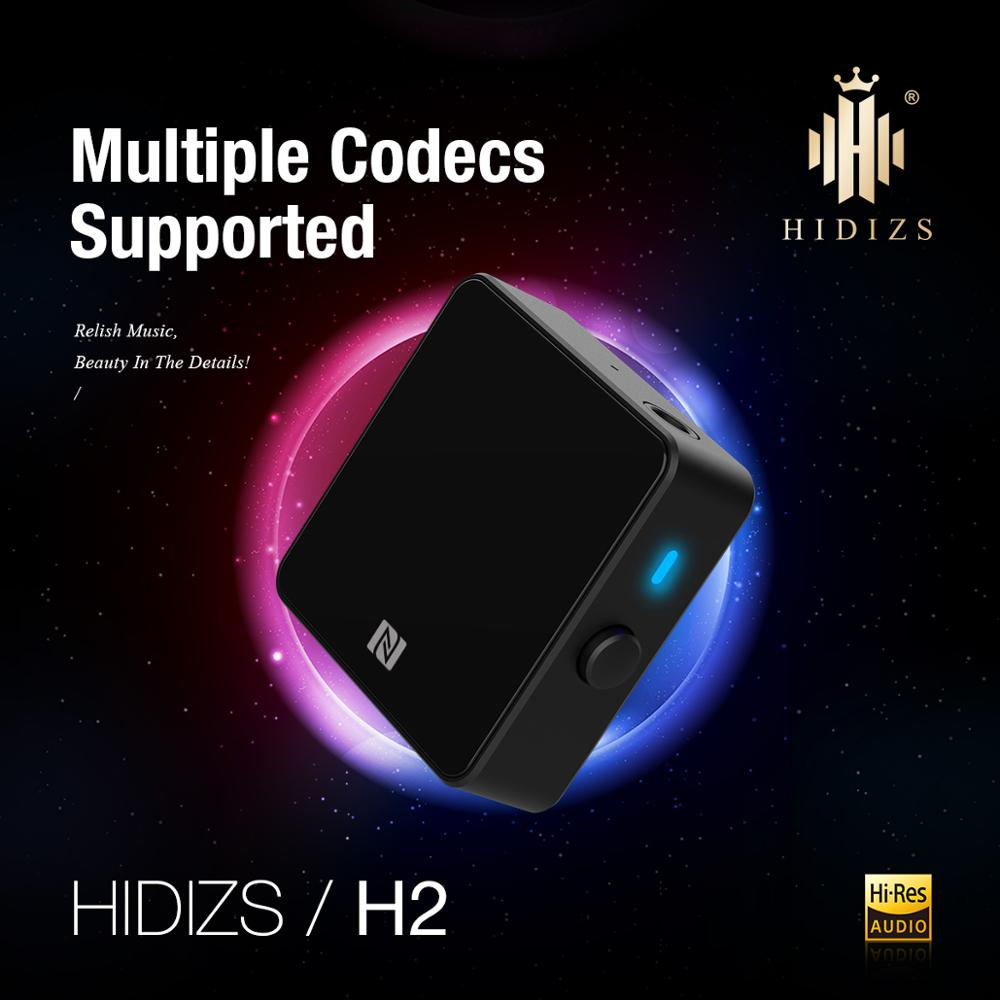 Hidizs H2 Lossless Bluetooth 5.0 Receiver Wireless 3.5mm AUX Jack Adapter NFC Dual HiRes Certified High Performance AMP Receiver enlarge