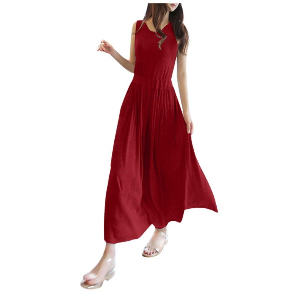 Vestido elegante de Color liso a la moda para mujer, chaleco de Casual plisado, vestidos de longitud media holgados, cómodos vestidos de graduación # LR4