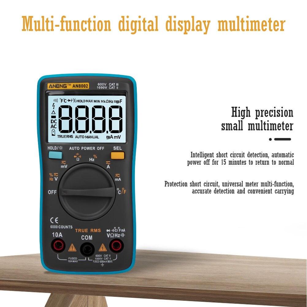 ANENG AN8002 Muli-Funktion Digital-Multimeter 6000 Zählt Multitester Digitale Profesional Transistor Kondensator Tester