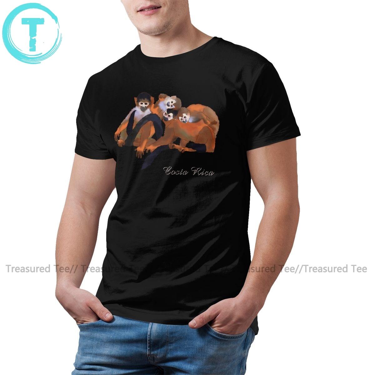 Titi camiseta Costa Rica Titi camiseta con mono estampado lindo camiseta mangas cortas 100 algodón camiseta grande