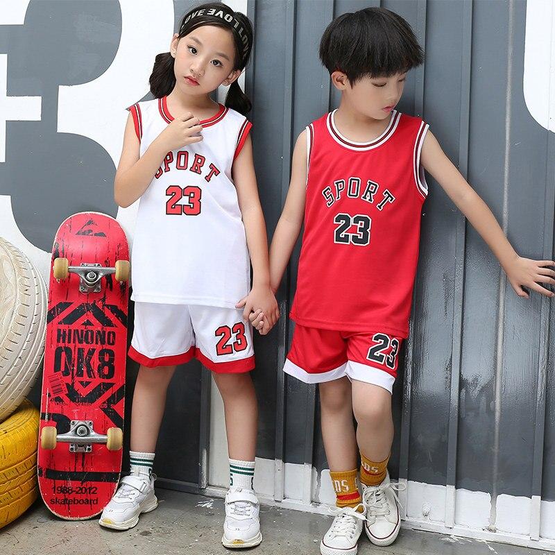 2pcs Set Toddler Boy Girls Summer Sport Jerseys Clothes Childs Basketball Uniform Baby Kids Boys Girls Cheap Sports Jerseys Set