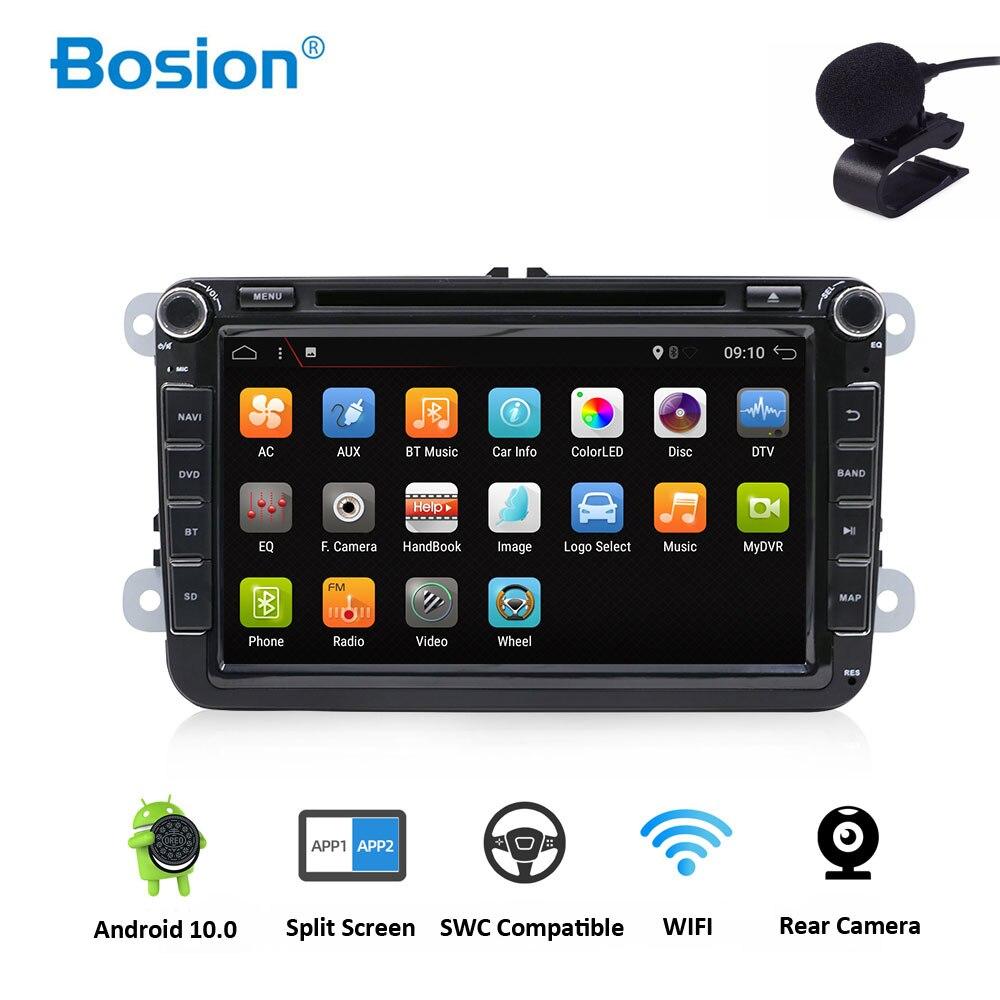 Android 10 auto Radio estéreo unidad DVD GPS RadioFor Volkswagen VW Skoda POLO PASSAT CC JETTA TIGUAN TOURAN SHARAN GOLF 5 5 5 6 6 7