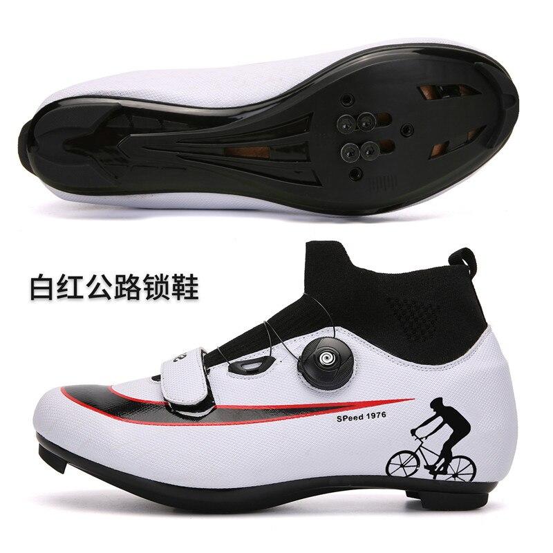 المتخصصة سرعة الدراجات الجبلية أحذية الطريق سباق دراجة الذكور شقة أحذية رياضية الرجال المربط المهنية النساء حذاء لركوب الدراجات على الطرق
