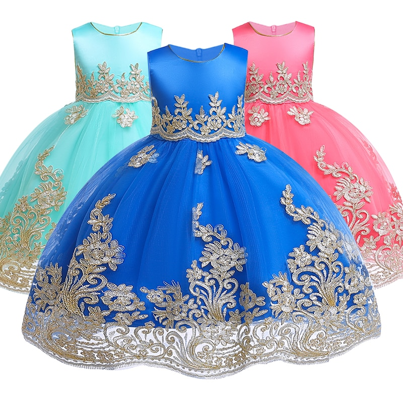 Vestidos de flores para Niñas para ropa de Año Nuevo, fiesta de bebé sin mangas, vestido de Boda de Princesa con lazo grande, Vestidos de fiesta para niños