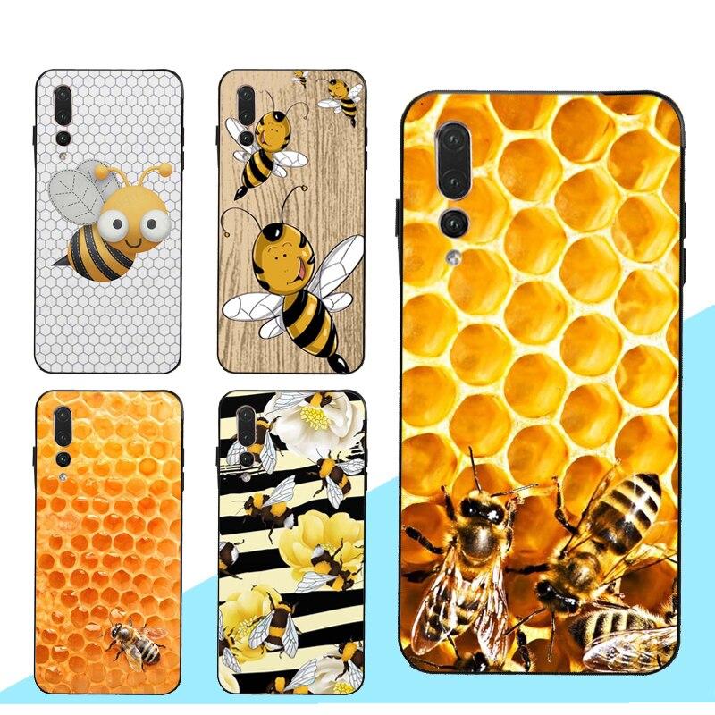 Bumble Bee de panal de miel funda para Huawei Honor 8X 9X 8A 10i 9 10 20 Lite 7C 7A Pro 8C 8S Nova 5T Y6 Y9 Y7 2019