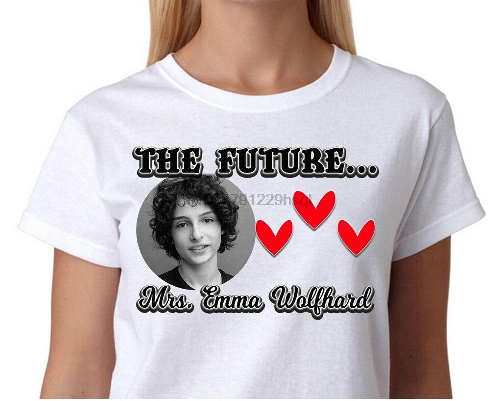 Увлажняющим эффектом марки The Finn Wolfhard футболка для детей; футболка, одежда Мерч Костюмы подарок Костюмы модные классические футболка