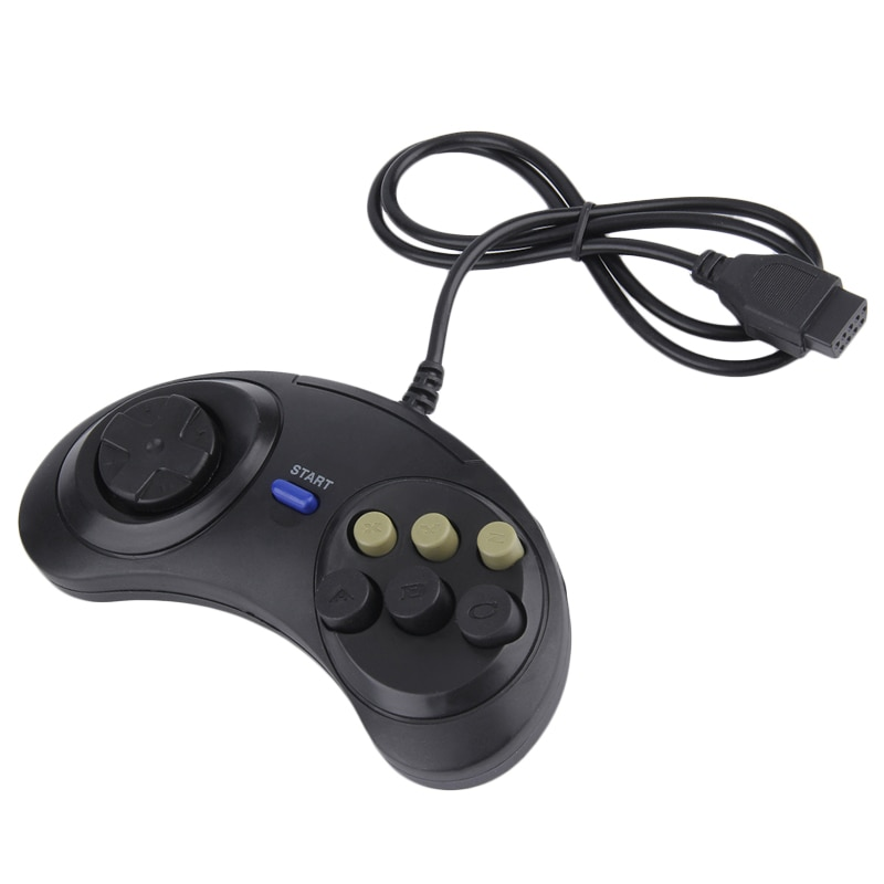Mando Retro clásico con cable para Sega Md2 Pc Mac Mega Drive,...