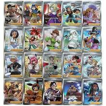 60pcs Pokemon Trainer Flash Cards Box Display Playing Game Pokémon Shining Cards Kids Toy