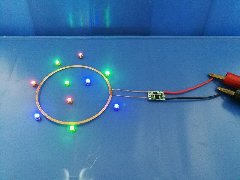 Módulo de fuente de alimentación inalámbrica de larga distancia de 0 ~ 80mm, lámpara de fuente de alimentación inalámbrica, fuente de alimentación de 5V