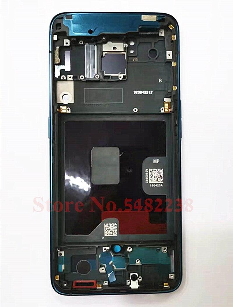 إطار أمامي LCD لـ Oppo Reno ، إطار مركزي أصلي 100% بوصة مع قطع غيار بأزرار جانبية