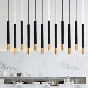 Thrisdar 5W LED Pendant Lamp Long Tube Lamp Kitchen Island Dining Room Shop Bar Decor Cylinder Pipe Pendant Light Kitchen Lamp