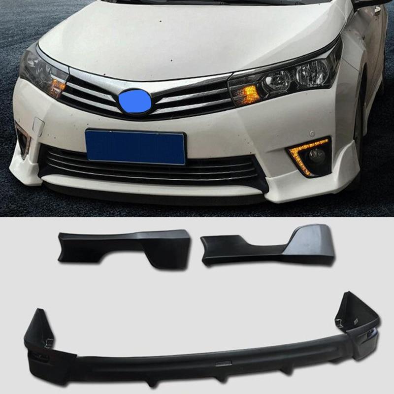 For Car Front Rear Bumper Splitter Lips Toyota Corolla Bumper Diffuser Protector Encircling Rear Spo