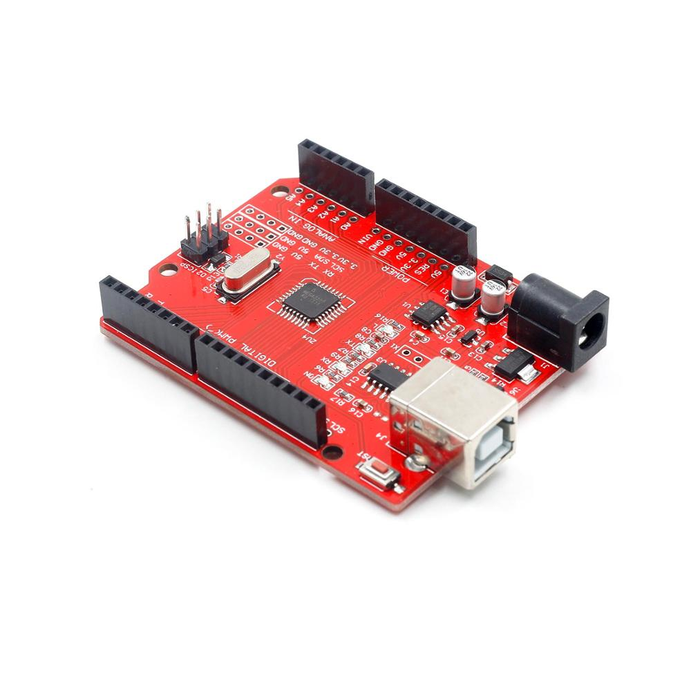 high quality One set UNO R3 (CH340G) MEGA328P for Arduino UNO R3 + USB CABLE ATMEGA328P-AU Development board