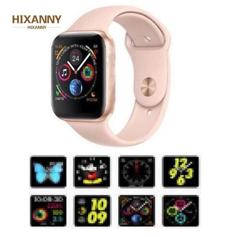 Nuevo reloj inteligente de 44mm, tamaño 11, caja mate de aleación de IWO 8, serie similar 4, reloj inteligente de ritmo cardíaco SIRI para iOS Android PK, regalo de 5 6